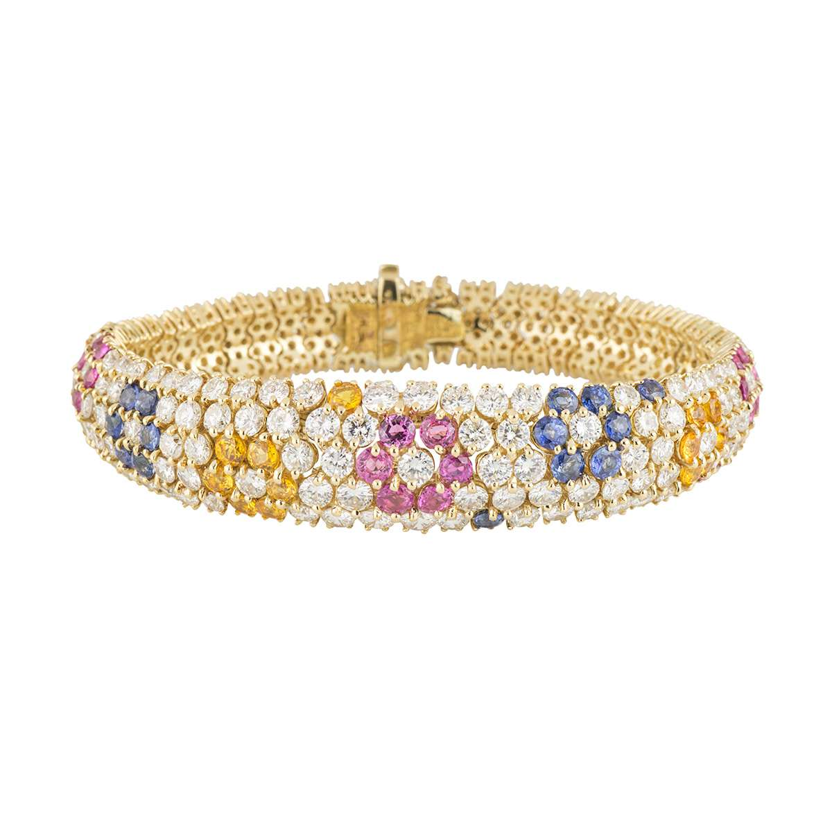 Yellow Gold Diamond and Gemstone Bracelet